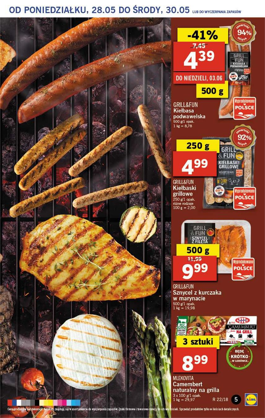 Gazetka Lidl Polska Sp. z o.o. nr 5 od 2018-05-28 do 2018-05-30