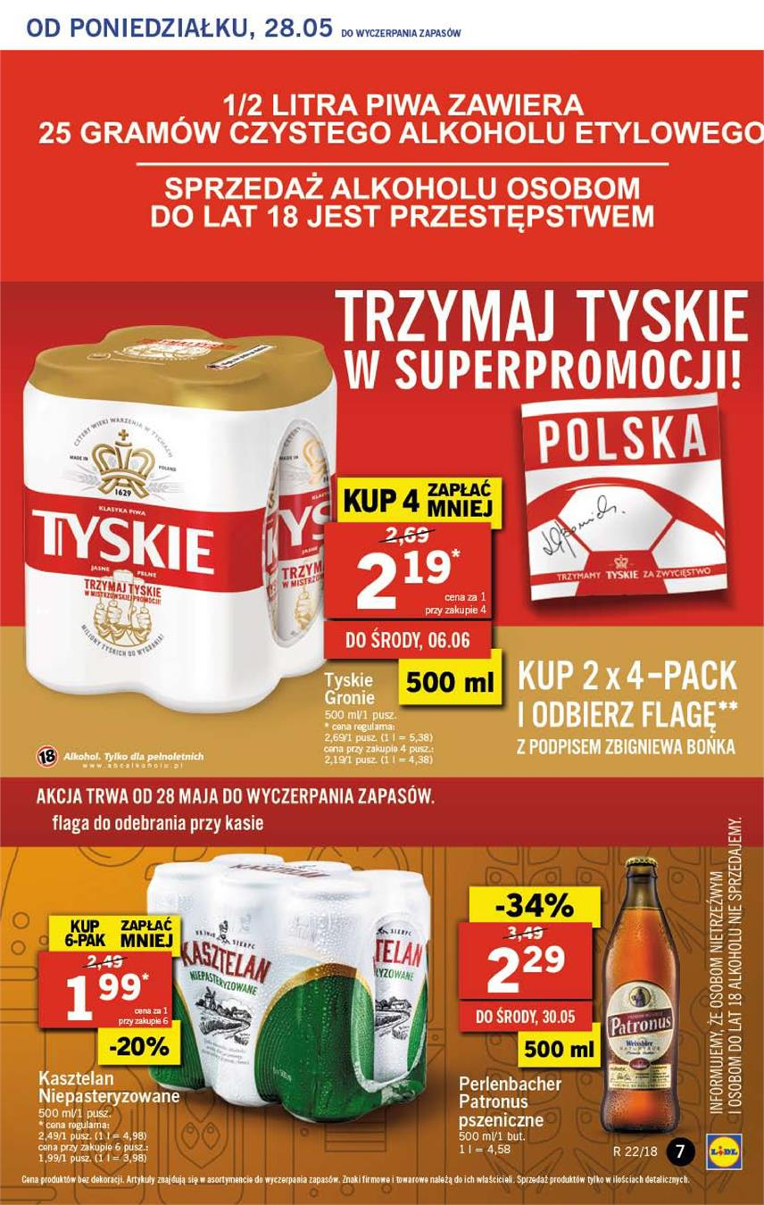Gazetka Lidl Polska Sp. z o.o. nr 7 od 2018-05-28 do 2018-05-30
