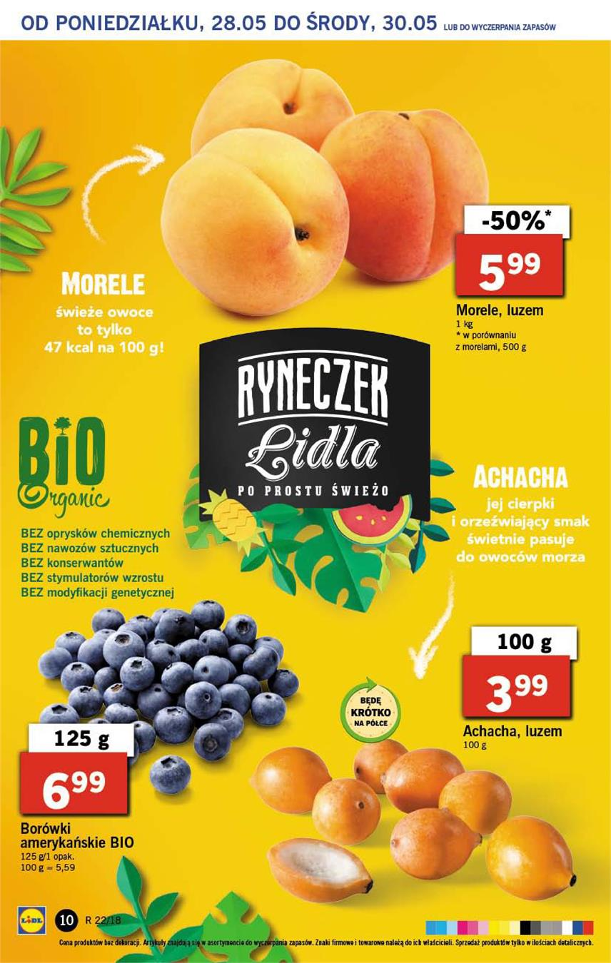 Gazetka Lidl Polska Sp. z o.o. nr 10 od 2018-05-28 do 2018-05-30