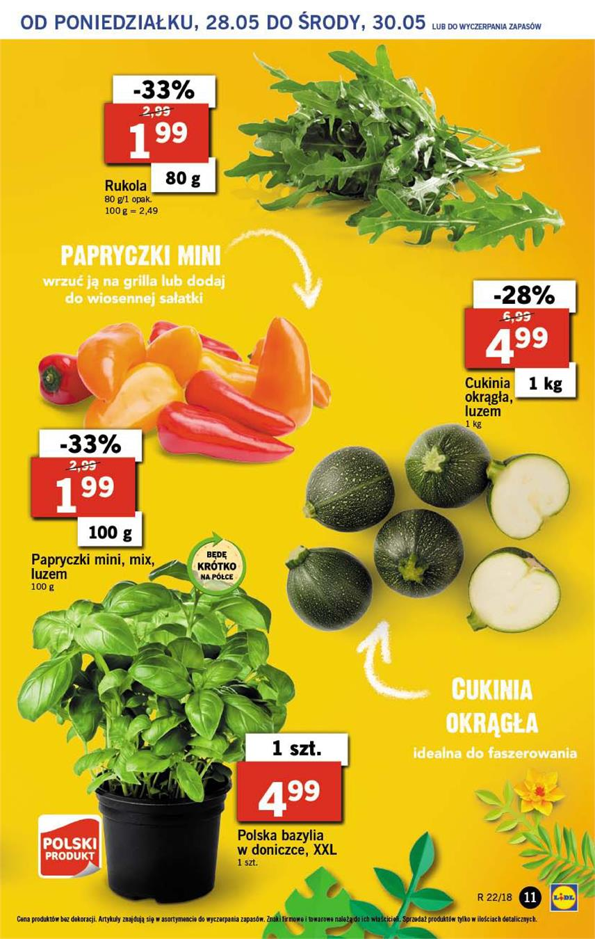 Gazetka Lidl Polska Sp. z o.o. nr 11 od 2018-05-28 do 2018-05-30
