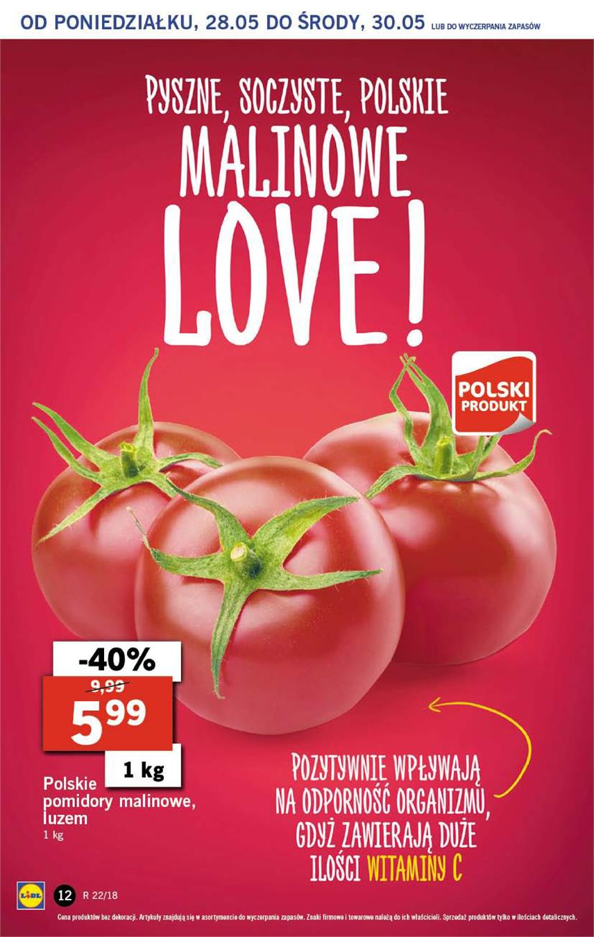 Gazetka Lidl Polska Sp. z o.o. nr 12 od 2018-05-28 do 2018-05-30