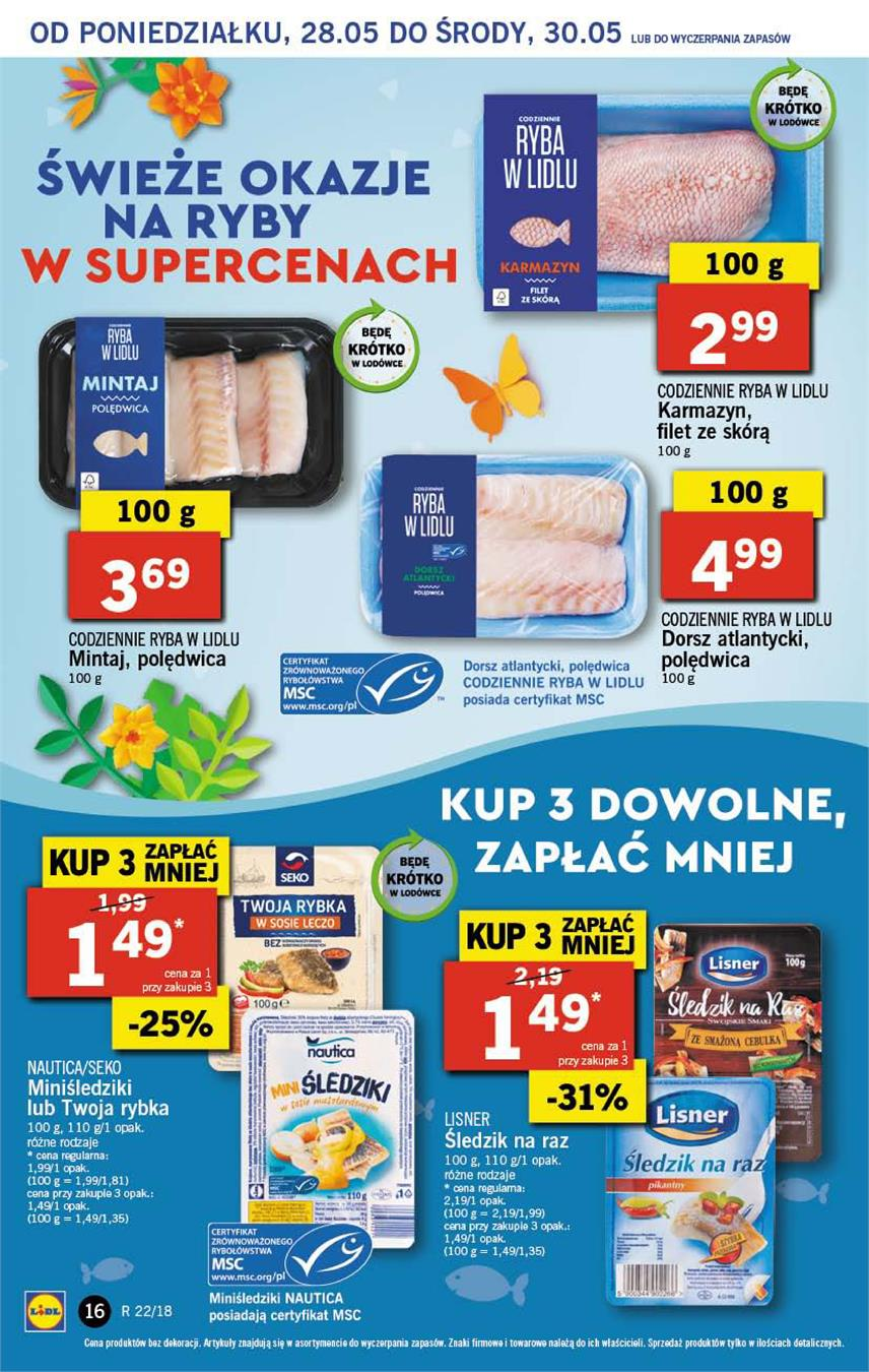 Gazetka Lidl Polska Sp. z o.o. nr 16 od 2018-05-28 do 2018-05-30