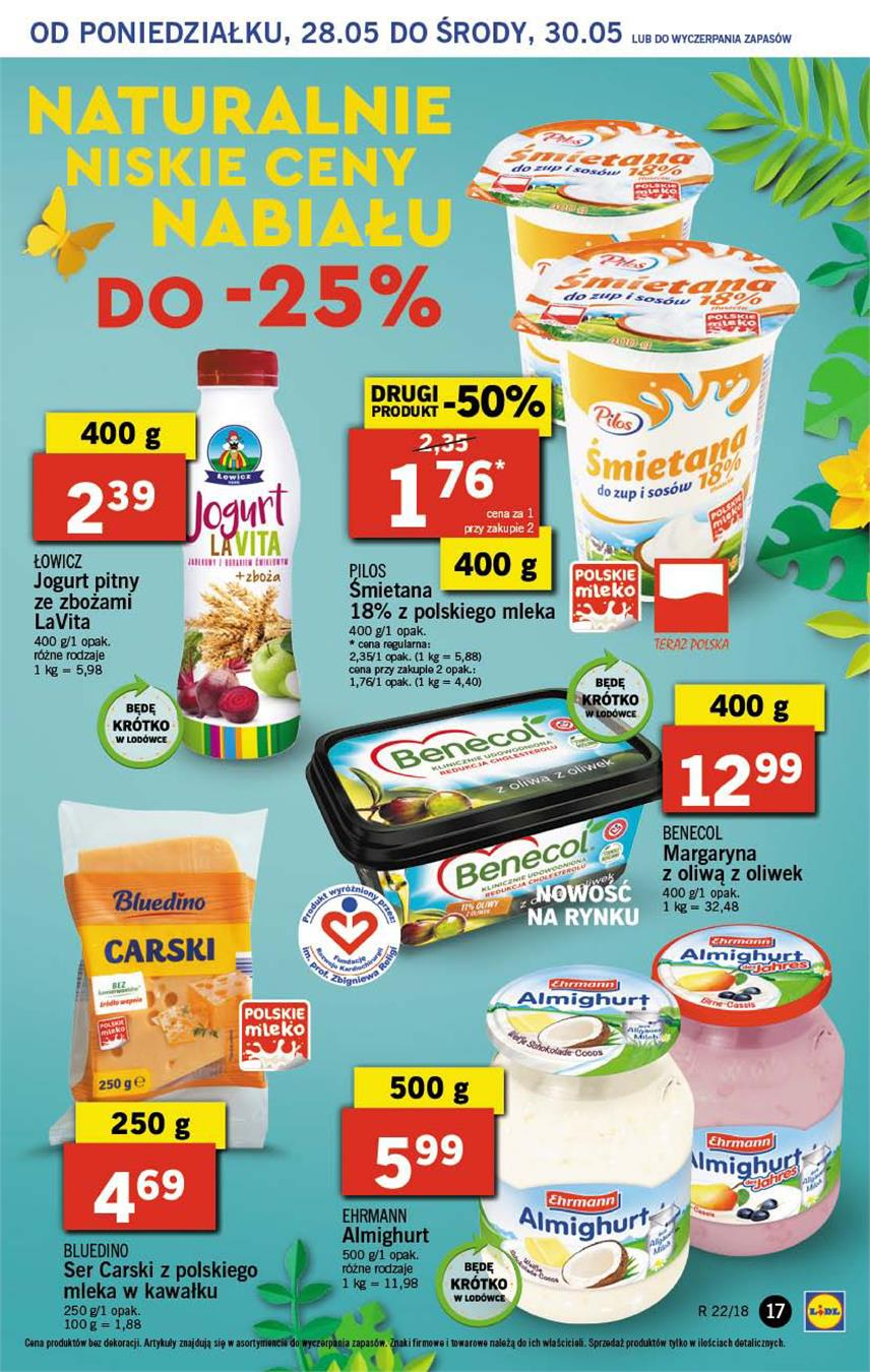 Gazetka Lidl Polska Sp. z o.o. nr 17 od 2018-05-28 do 2018-05-30