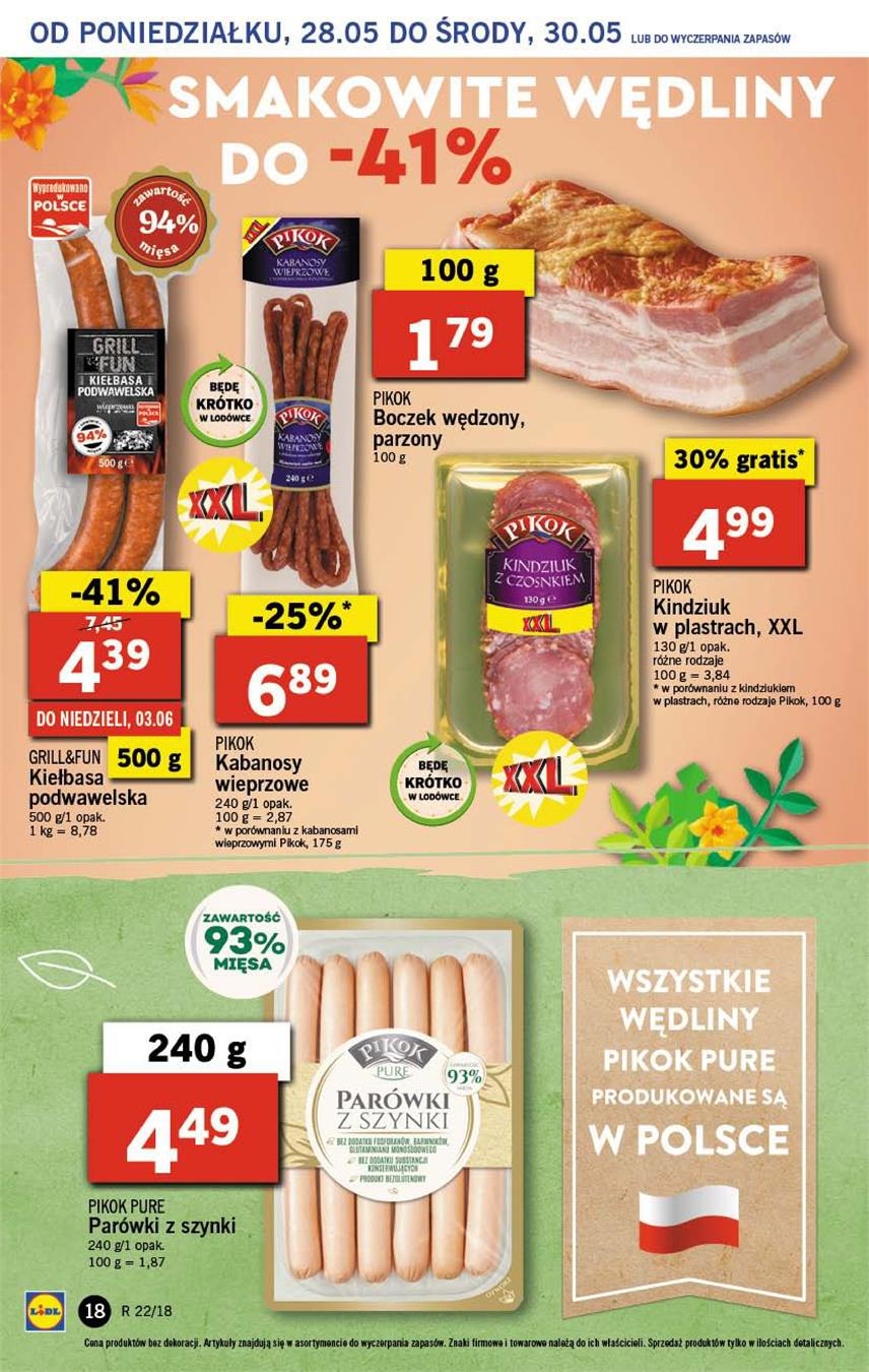 Gazetka Lidl Polska Sp. z o.o. nr 18 od 2018-05-28 do 2018-05-30