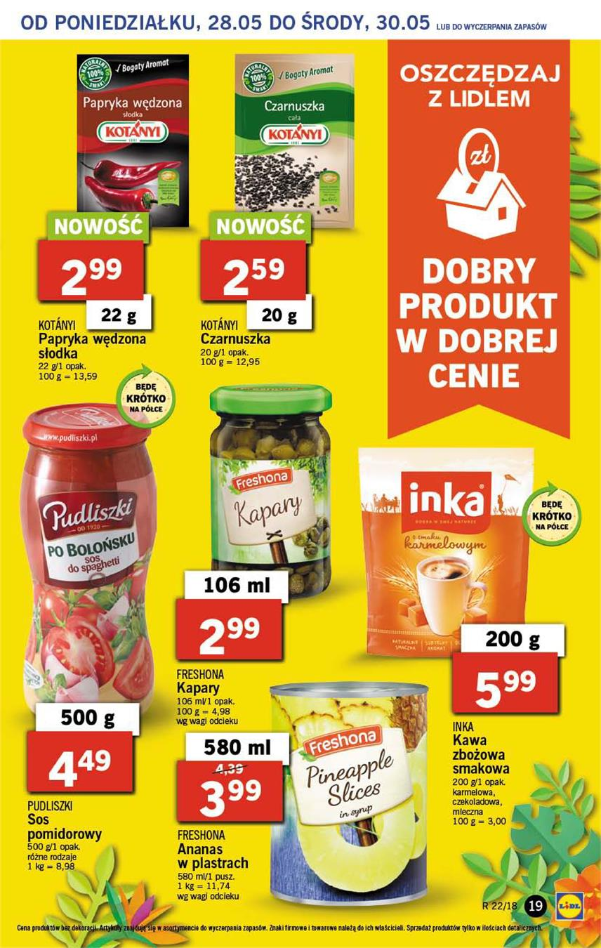 Gazetka Lidl Polska Sp. z o.o. nr 19 od 2018-05-28 do 2018-05-30