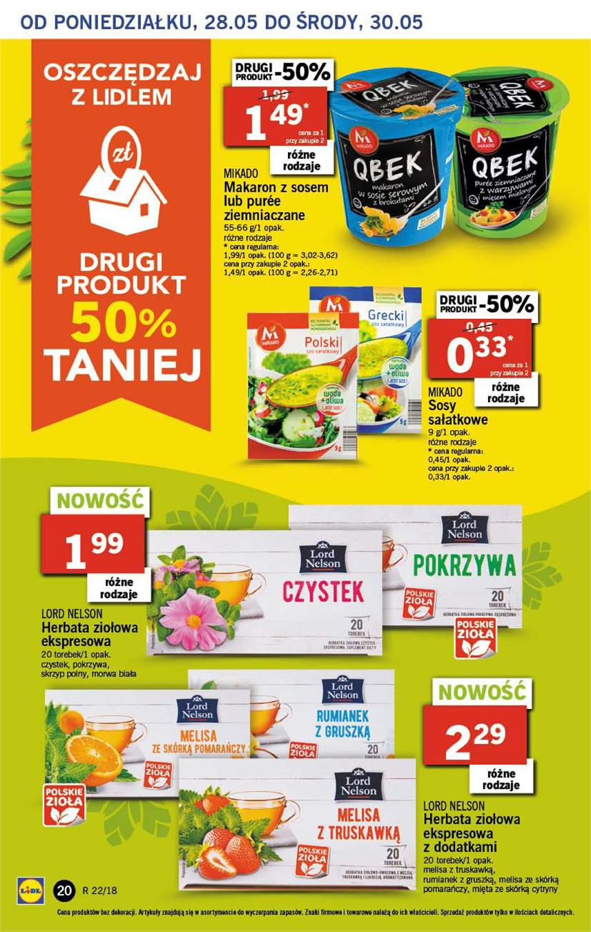 Gazetka Lidl Polska Sp. z o.o. nr 20 od 2018-05-28 do 2018-05-30