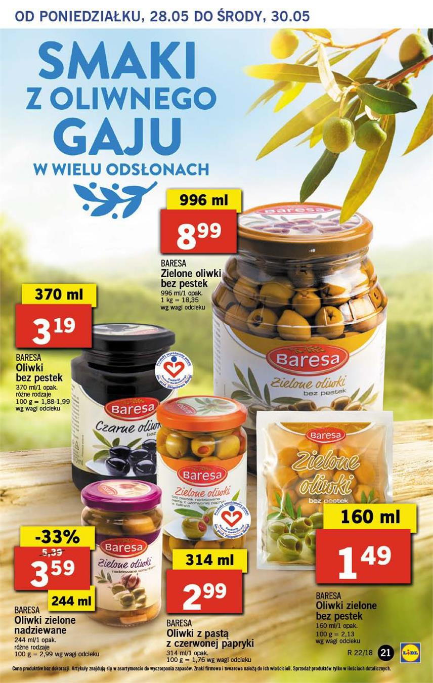Gazetka Lidl Polska Sp. z o.o. nr 21 od 2018-05-28 do 2018-05-30