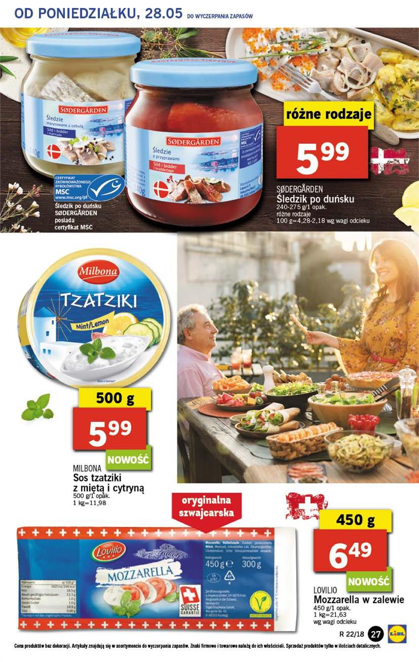 Gazetka Lidl Polska Sp. z o.o. nr 27 od 2018-05-28 do 2018-05-30