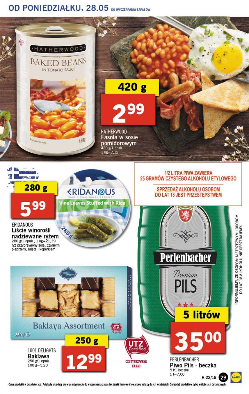 Gazetka Lidl Polska Sp. z o.o. nr 29 od 2018-05-28 do 2018-05-30