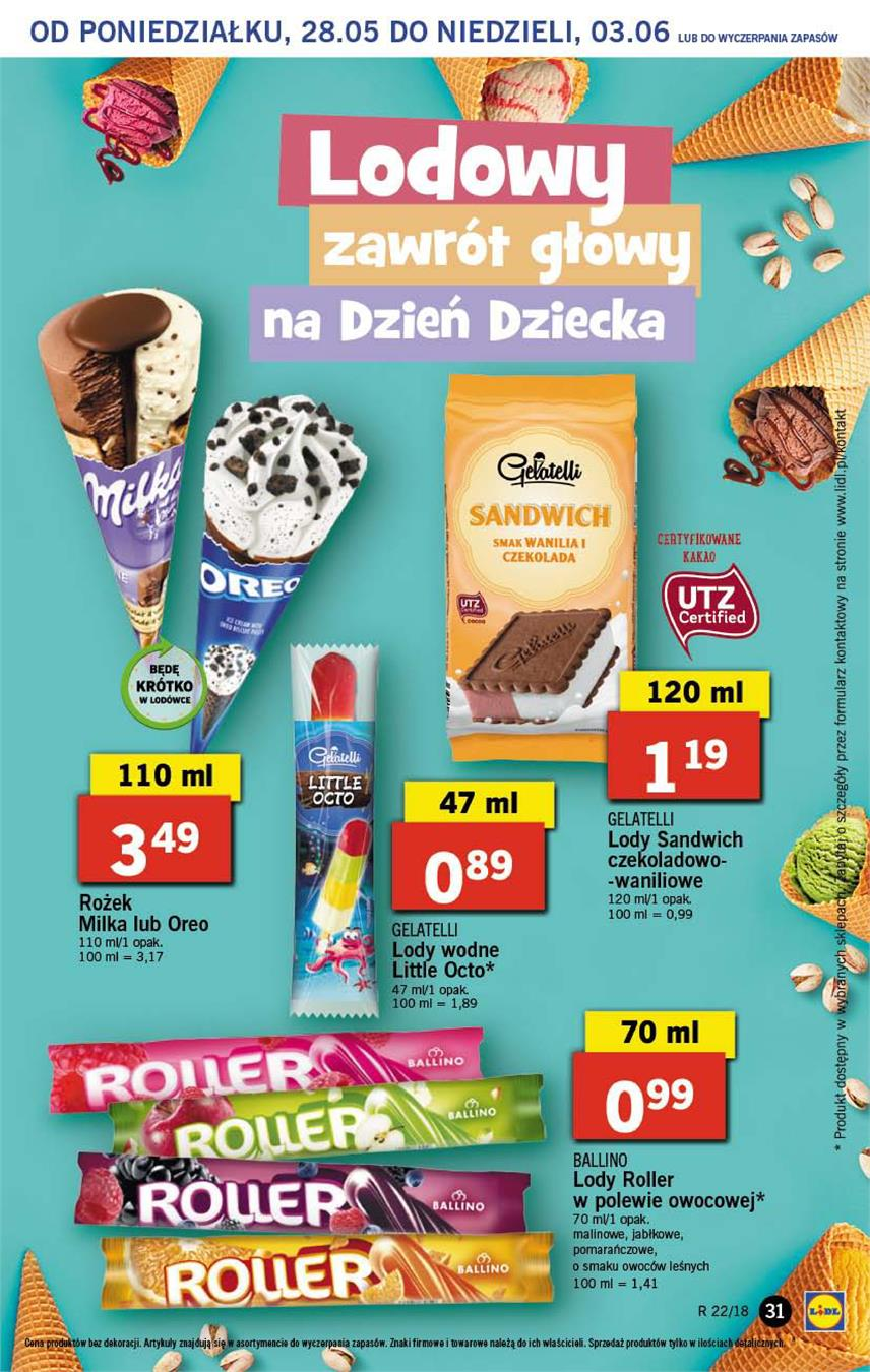 Gazetka Lidl Polska Sp. z o.o. nr 31 od 2018-05-28 do 2018-05-30