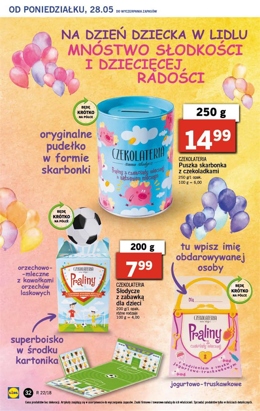 Gazetka Lidl Polska Sp. z o.o. nr 32 od 2018-05-28 do 2018-05-30