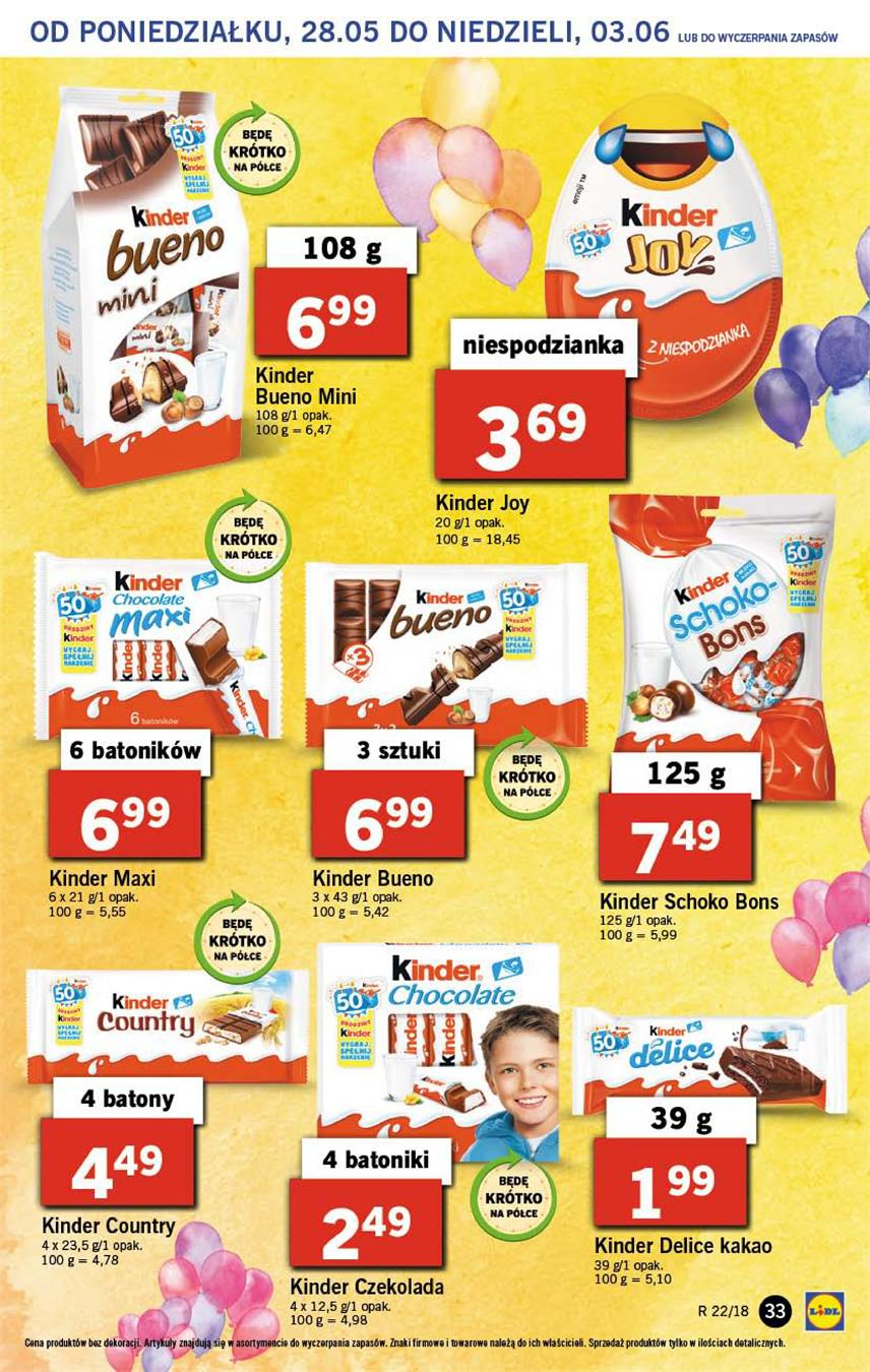 Gazetka Lidl Polska Sp. z o.o. nr 33 od 2018-05-28 do 2018-05-30