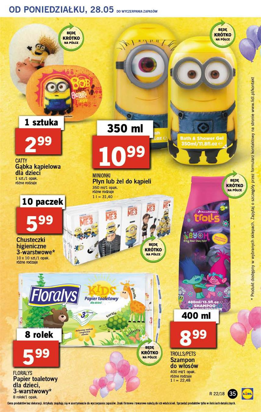 Gazetka Lidl Polska Sp. z o.o. nr 35 od 2018-05-28 do 2018-05-30