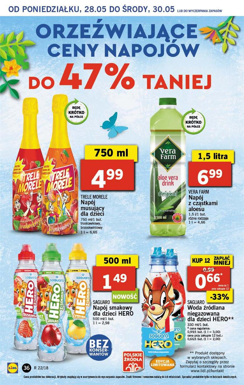 Gazetka Lidl Polska Sp. z o.o. nr 36 od 2018-05-28 do 2018-05-30