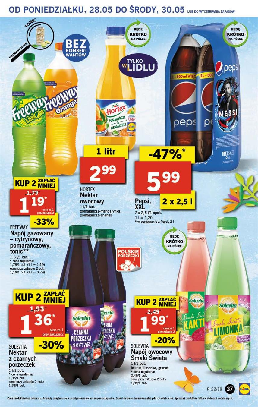 Gazetka Lidl Polska Sp. z o.o. nr 37 od 2018-05-28 do 2018-05-30