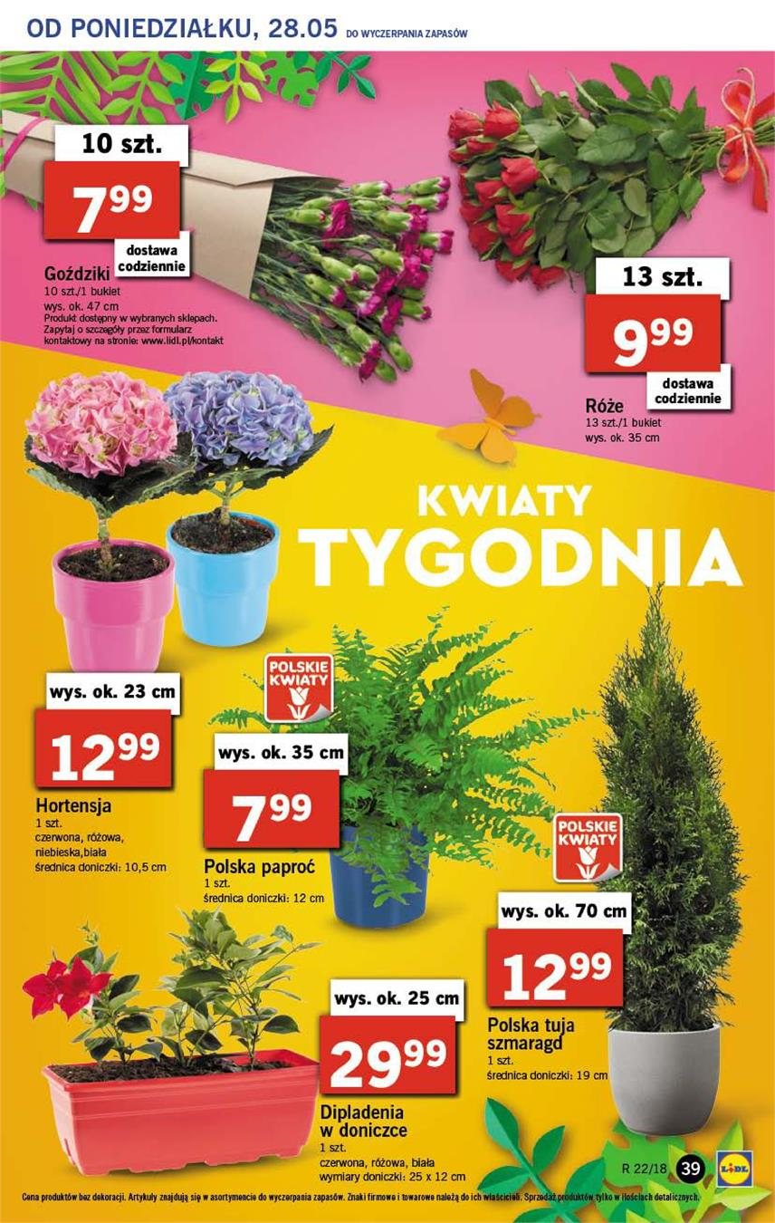 Gazetka Lidl Polska Sp. z o.o. nr 39 od 2018-05-28 do 2018-05-30