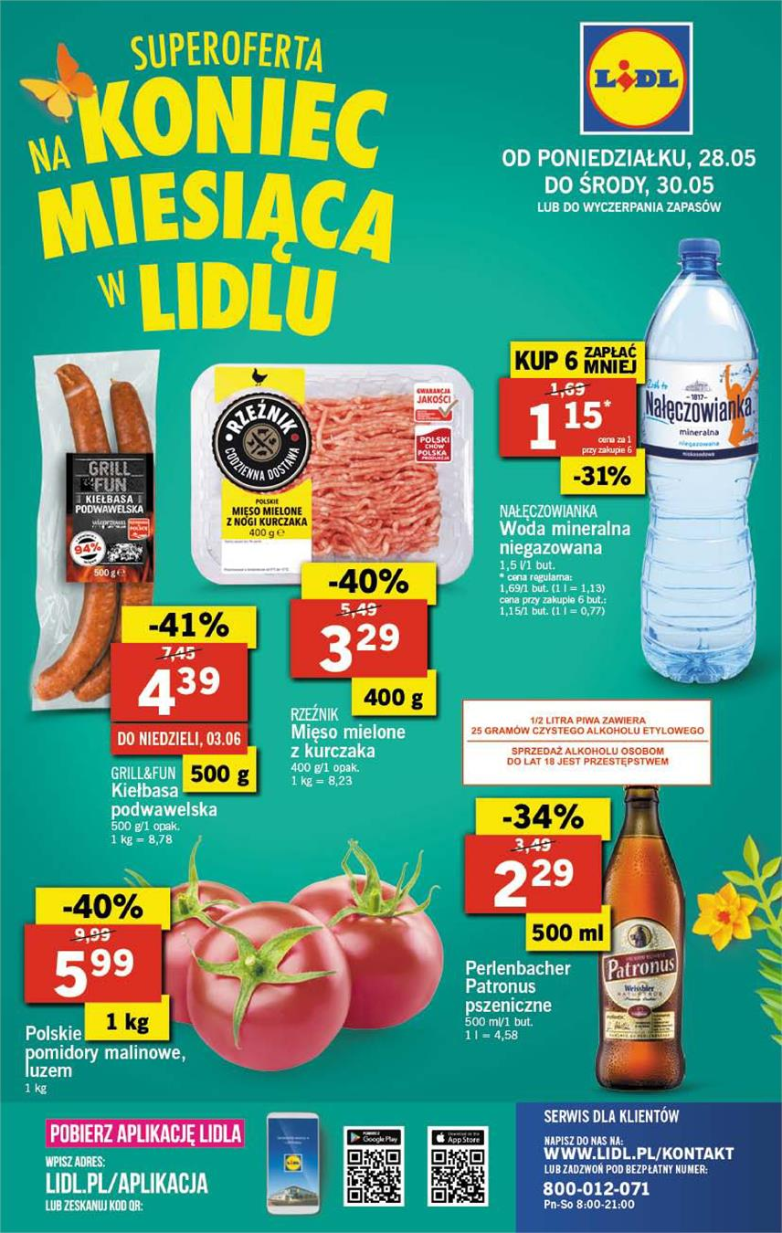 Gazetka Lidl Polska Sp. z o.o. nr 40 od 2018-05-28 do 2018-05-30