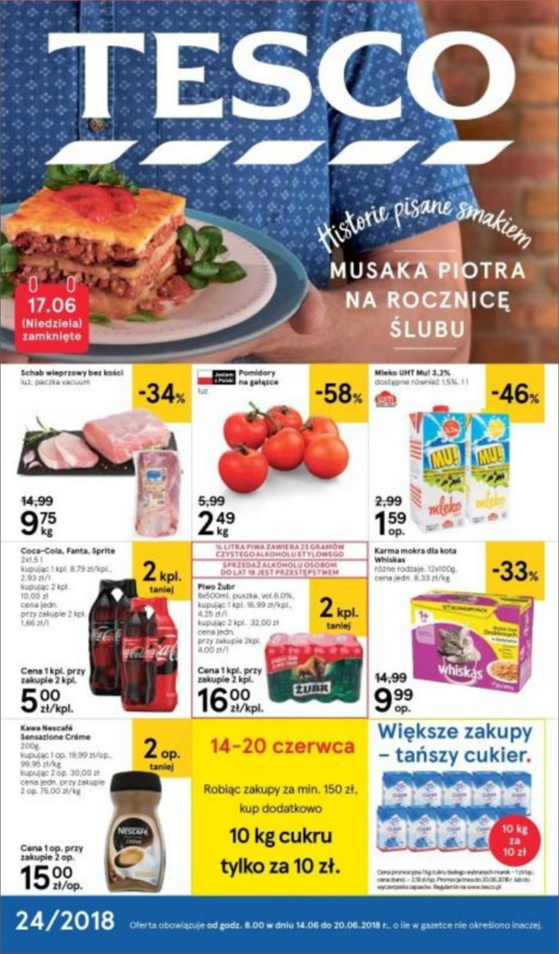 Gazetka Tesco Polska Sp. z o.o. nr 1 od 2018-06-14 do 2018-06-20