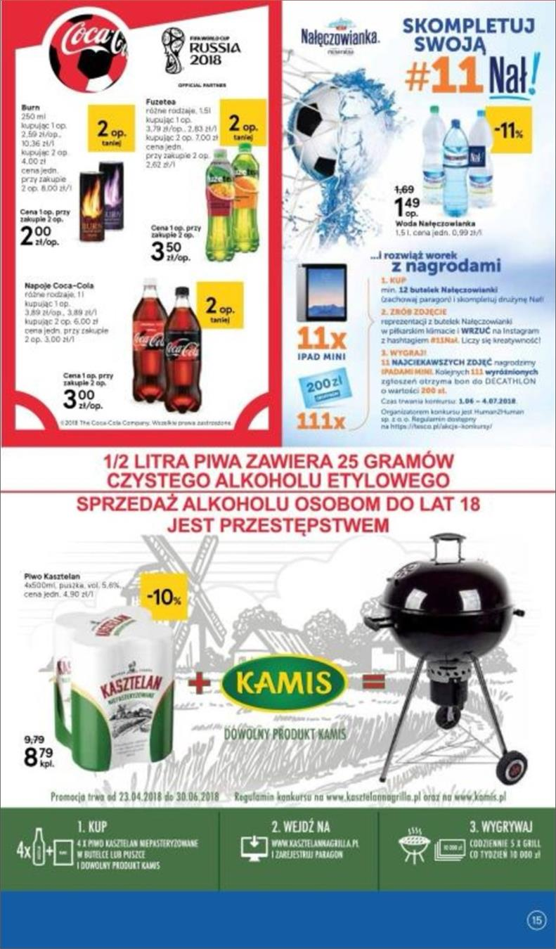 Gazetka Tesco Polska Sp. z o.o. nr 15 od 2018-06-14 do 2018-06-20