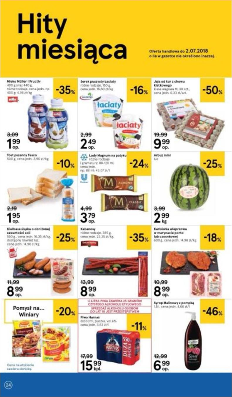 Gazetka Tesco Polska Sp. z o.o. nr 24 od 2018-06-14 do 2018-06-20