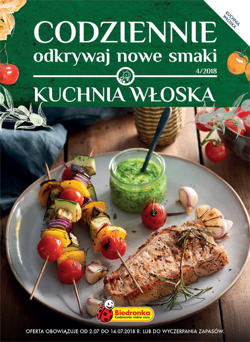 Gazetka Promocyjna Biedronkapl Kuchnia Włoska Lipiec