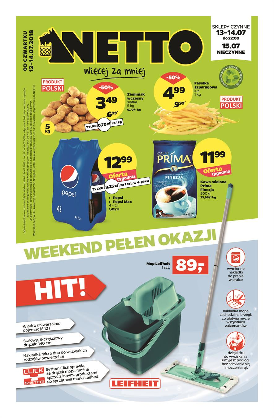 Gazetka Netto Sp. z o.o. nr 1 od 2018-07-12 do 2018-07-14