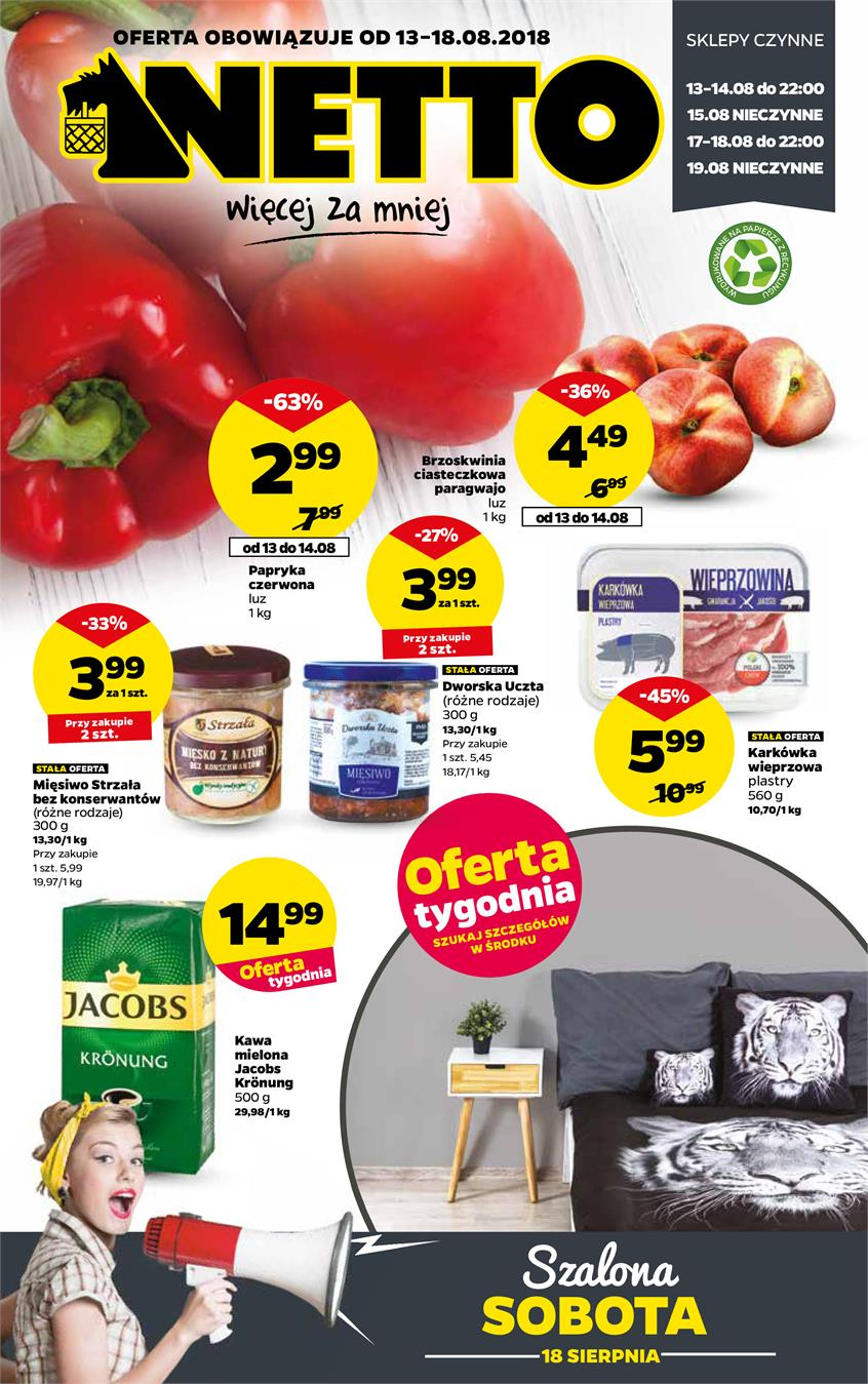 Gazetka Netto Sp. z o.o. nr 1 od 2018-08-13 do 2018-08-18