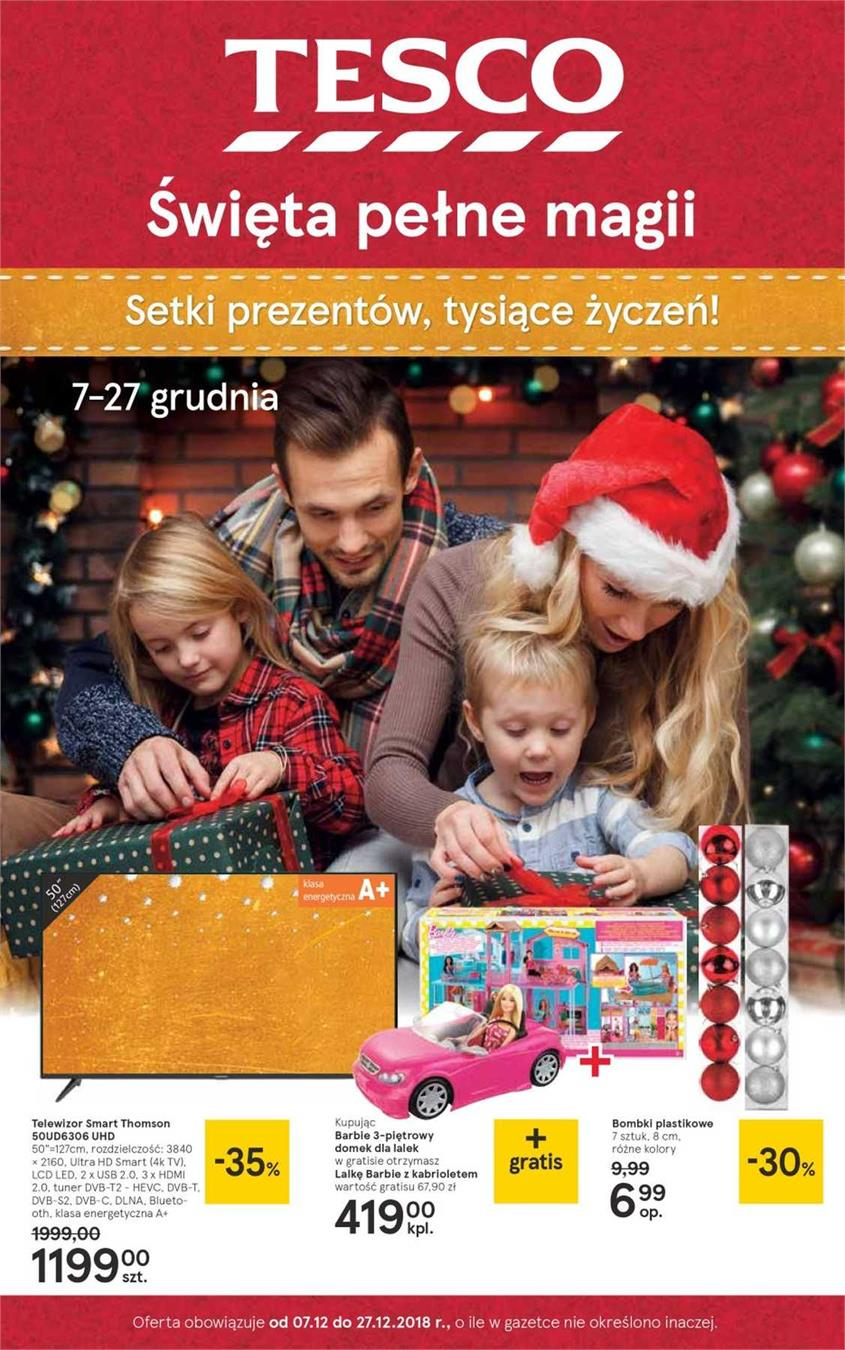 Gazetka Tesco Polska Sp. z o.o. nr 1 od 2018-12-07 do 2018-12-27