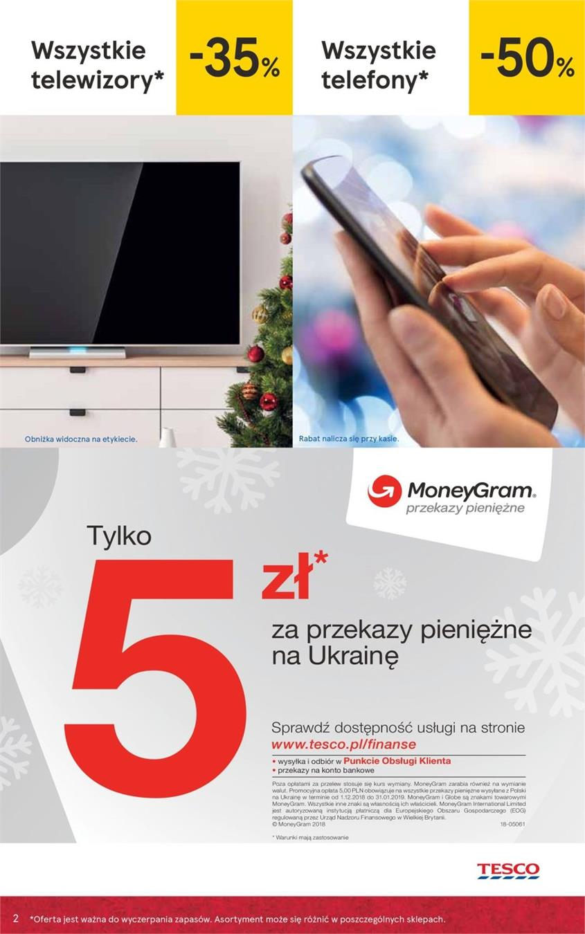 Gazetka Tesco Polska Sp. z o.o. nr 2 od 2018-12-07 do 2018-12-27