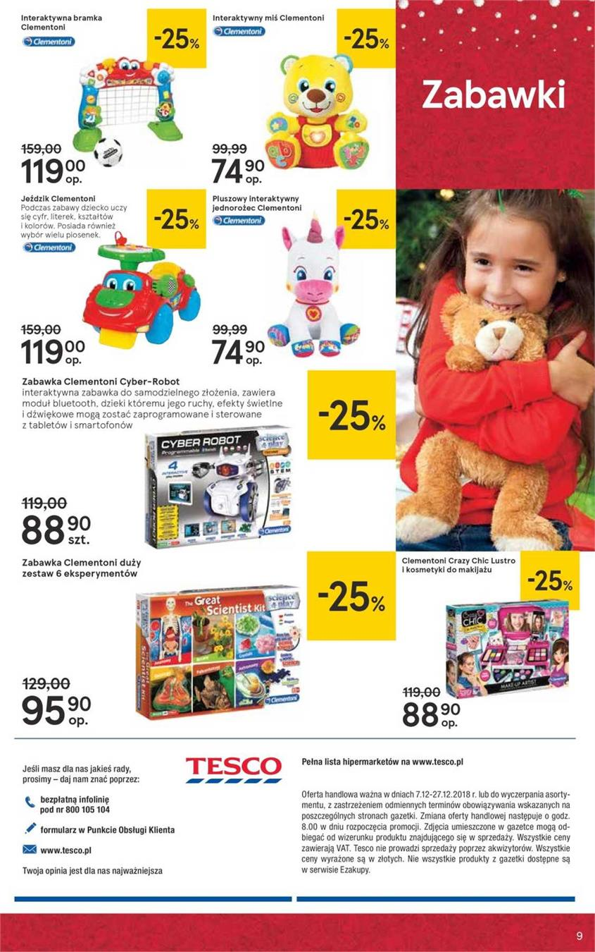 Gazetka Tesco Polska Sp. z o.o. nr 9 od 2018-12-07 do 2018-12-27