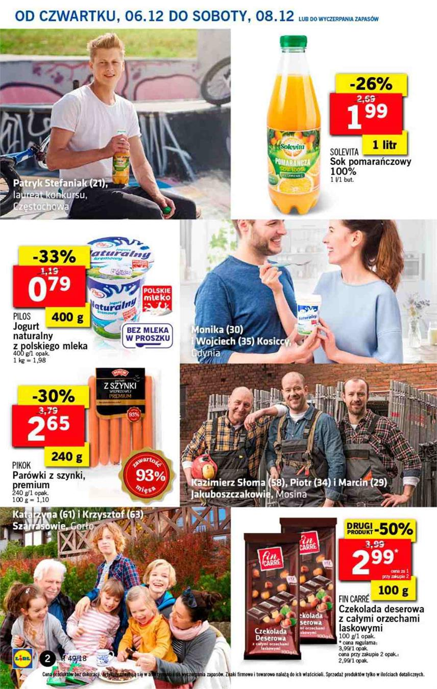 Gazetka Lidl Polska Sp. z o.o. nr 2 od 2018-12-06 do 2018-12-08