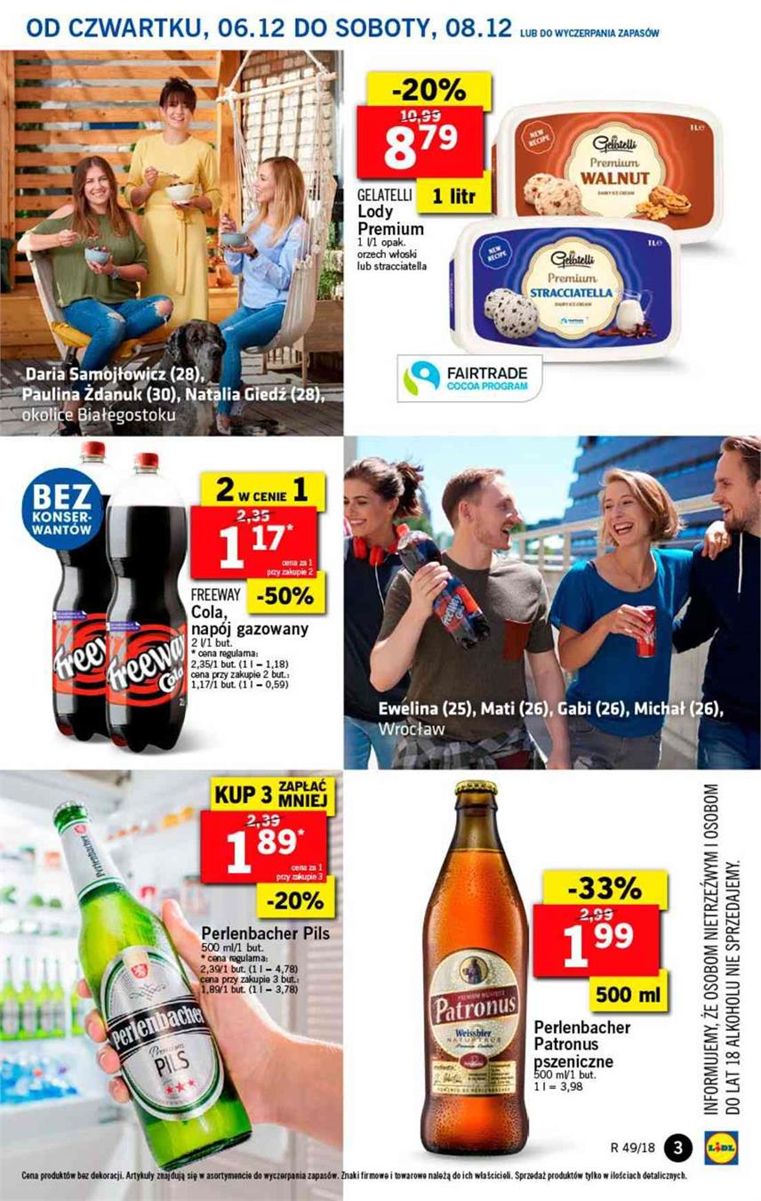Gazetka Lidl Polska Sp. z o.o. nr 3 od 2018-12-06 do 2018-12-08