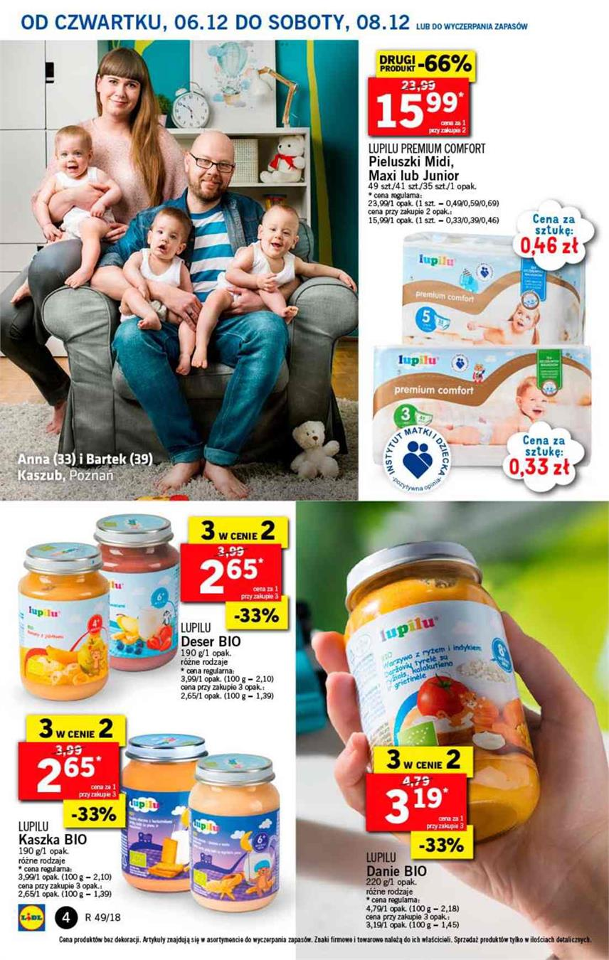 Gazetka Lidl Polska Sp. z o.o. nr 4 od 2018-12-06 do 2018-12-08