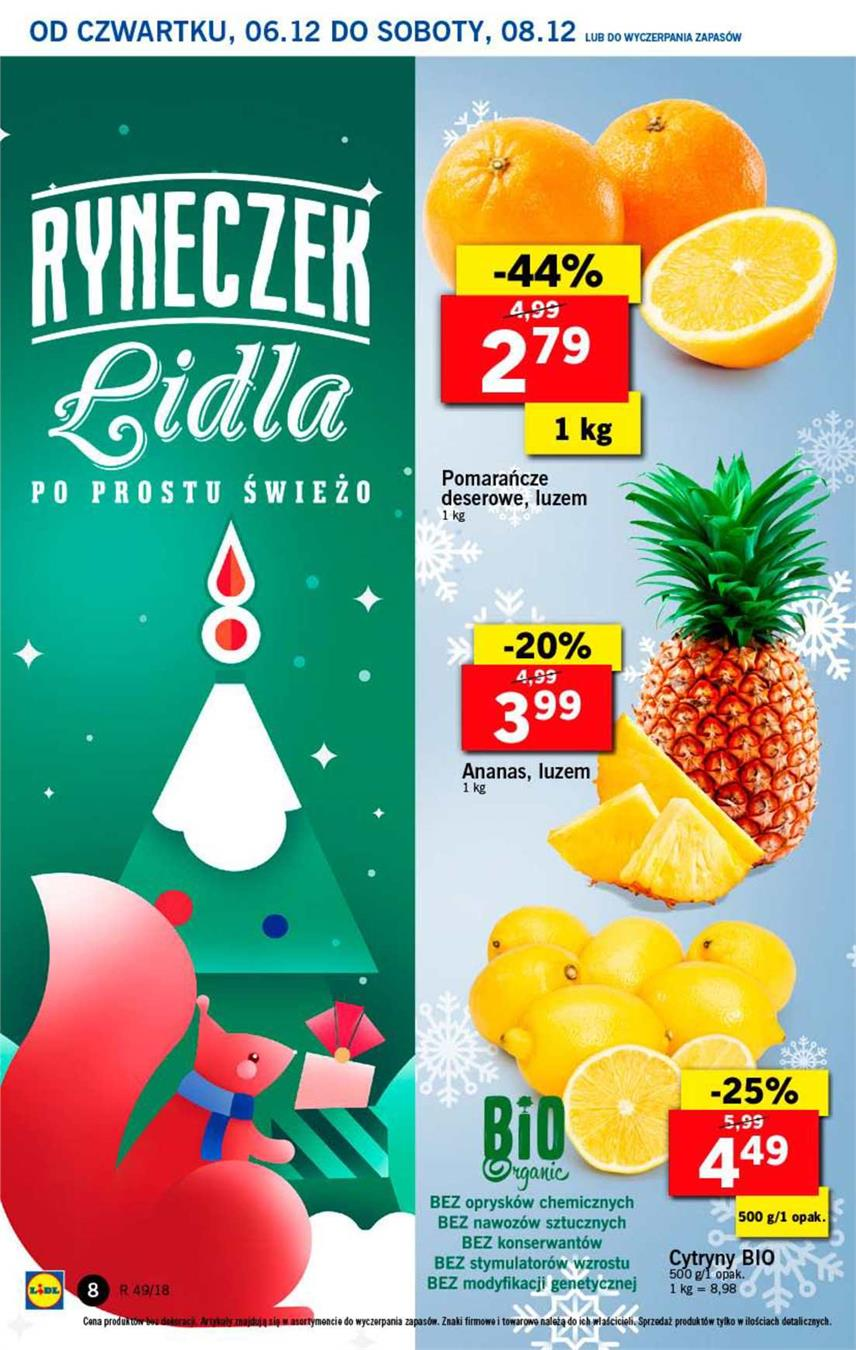 Gazetka Lidl Polska Sp. z o.o. nr 8 od 2018-12-06 do 2018-12-08