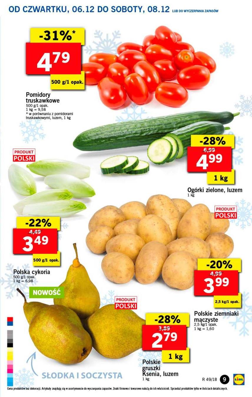 Gazetka Lidl Polska Sp. z o.o. nr 9 od 2018-12-06 do 2018-12-08