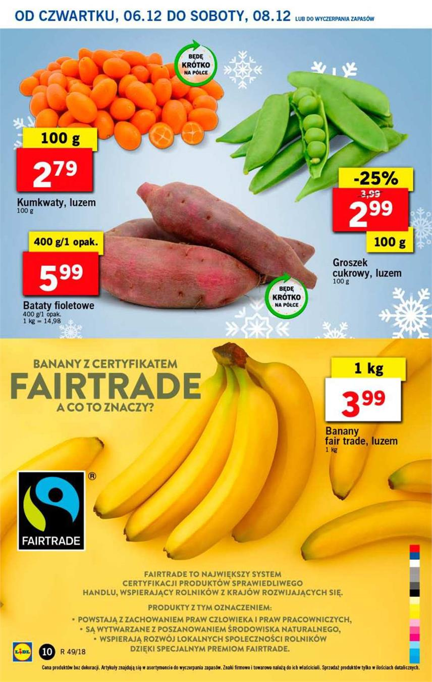 Gazetka Lidl Polska Sp. z o.o. nr 10 od 2018-12-06 do 2018-12-08