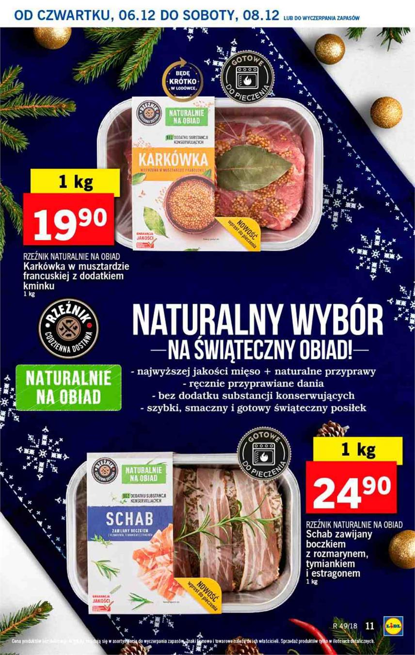Gazetka Lidl Polska Sp. z o.o. nr 11 od 2018-12-06 do 2018-12-08