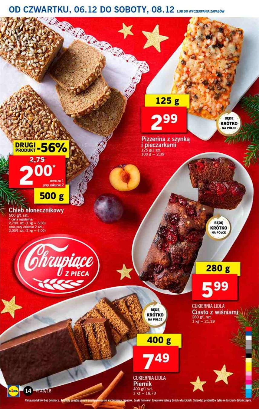 Gazetka Lidl Polska Sp. z o.o. nr 14 od 2018-12-06 do 2018-12-08