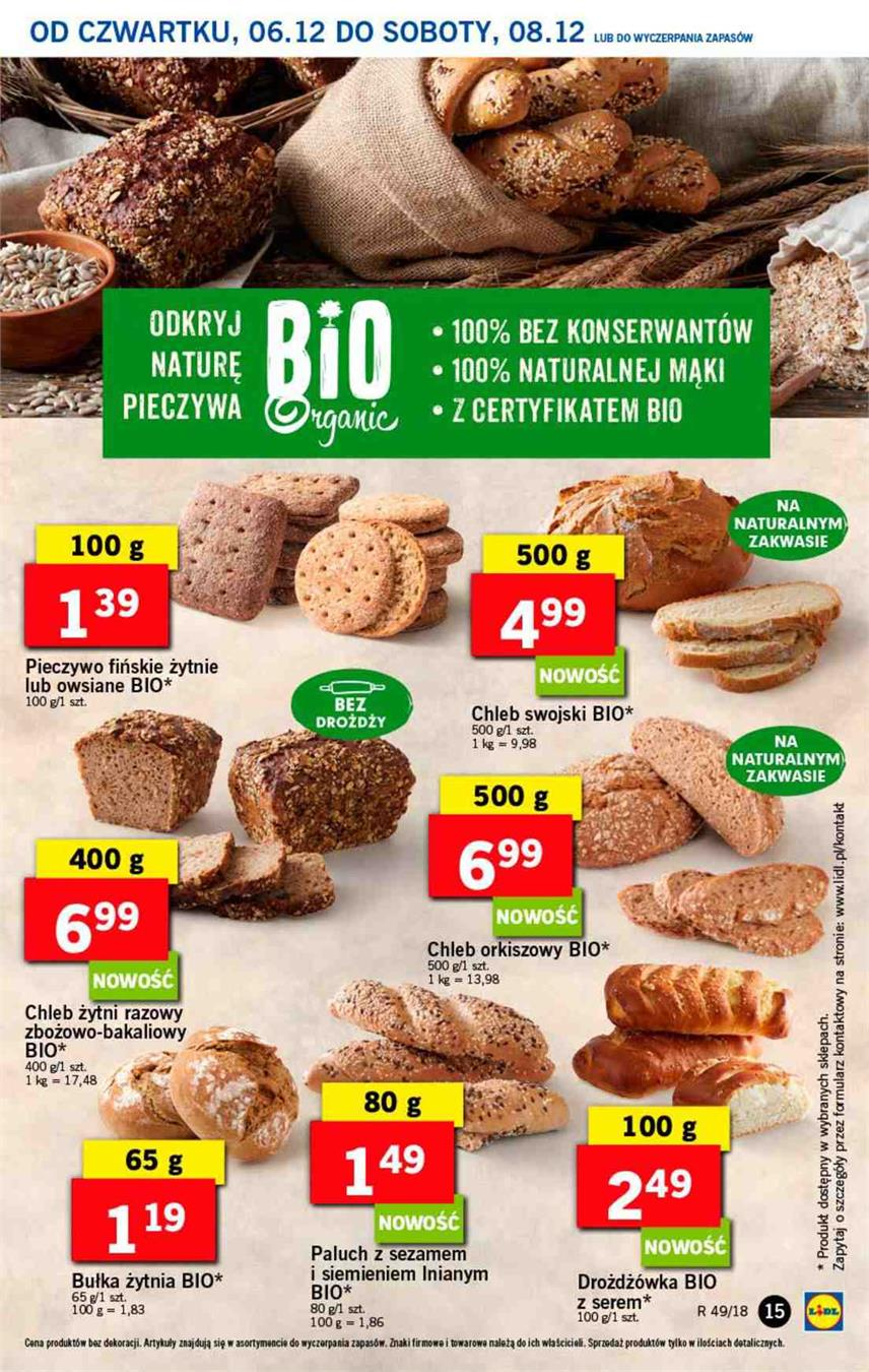 Gazetka Lidl Polska Sp. z o.o. nr 15 od 2018-12-06 do 2018-12-08