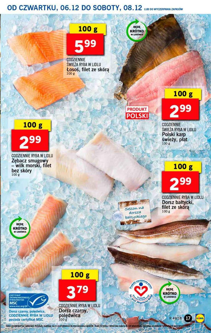 Gazetka Lidl Polska Sp. z o.o. nr 17 od 2018-12-06 do 2018-12-08