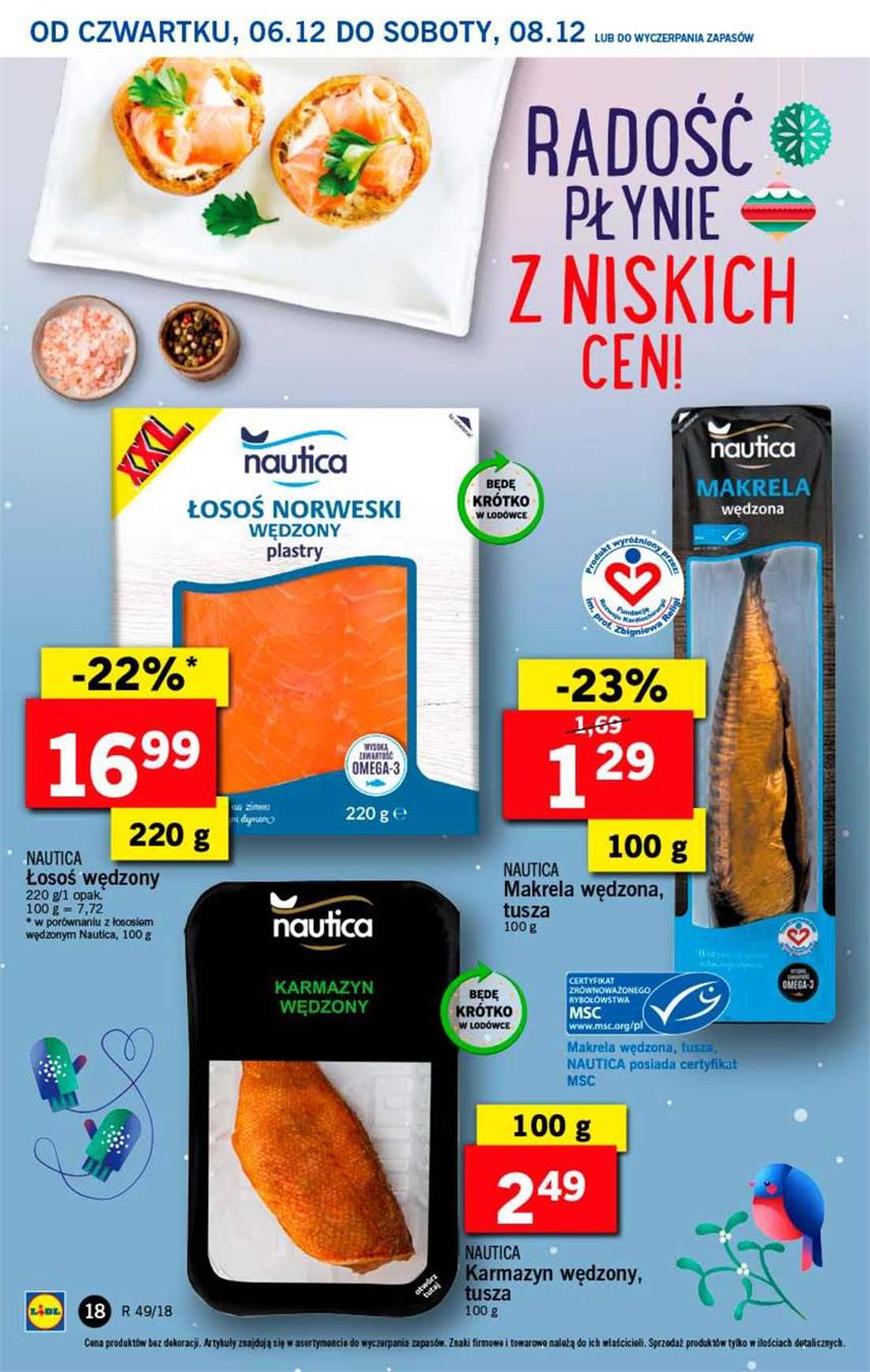 Gazetka Lidl Polska Sp. z o.o. nr 18 od 2018-12-06 do 2018-12-08