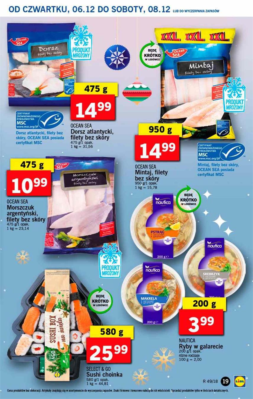 Gazetka Lidl Polska Sp. z o.o. nr 19 od 2018-12-06 do 2018-12-08