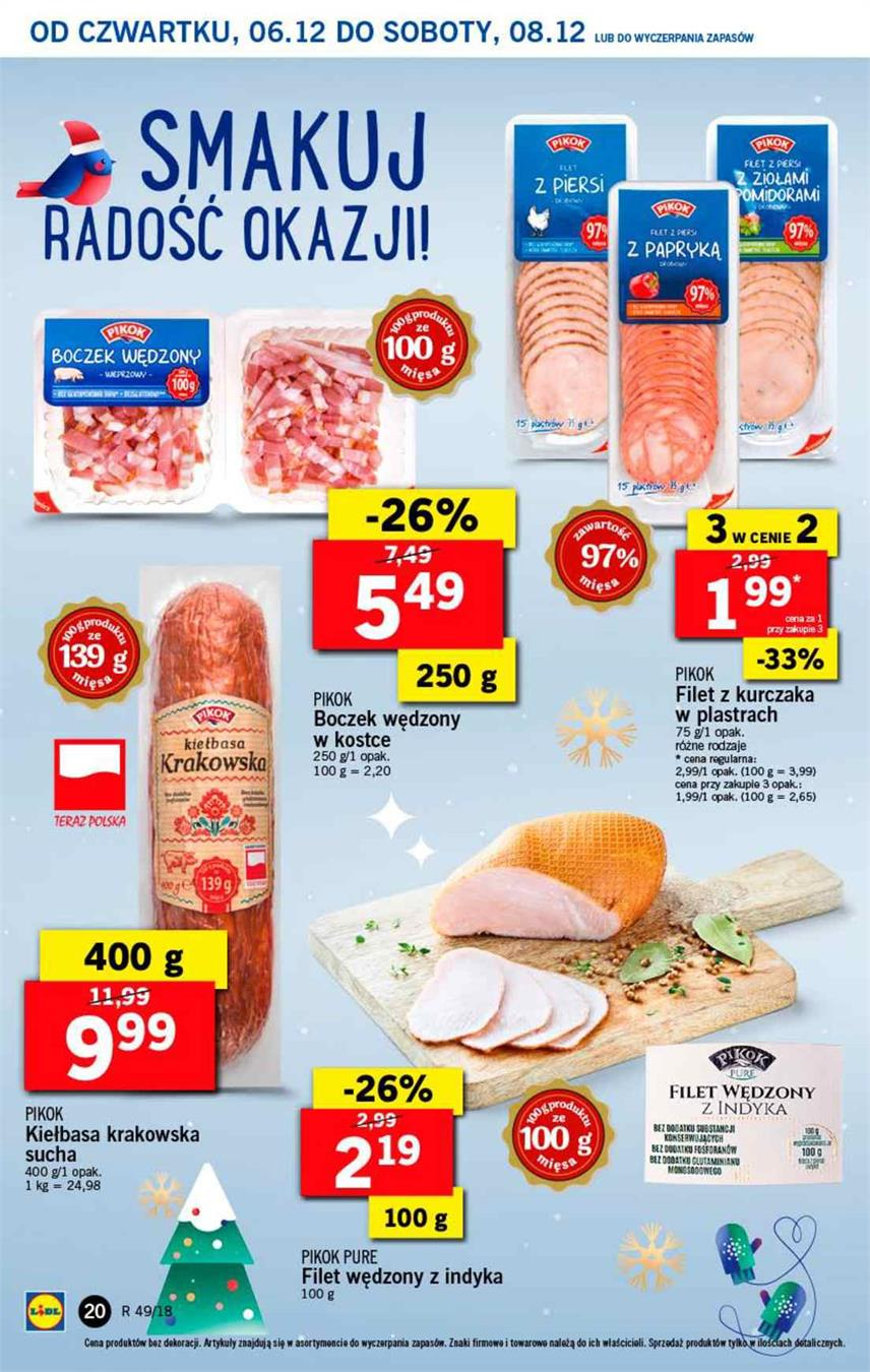 Gazetka Lidl Polska Sp. z o.o. nr 20 od 2018-12-06 do 2018-12-08