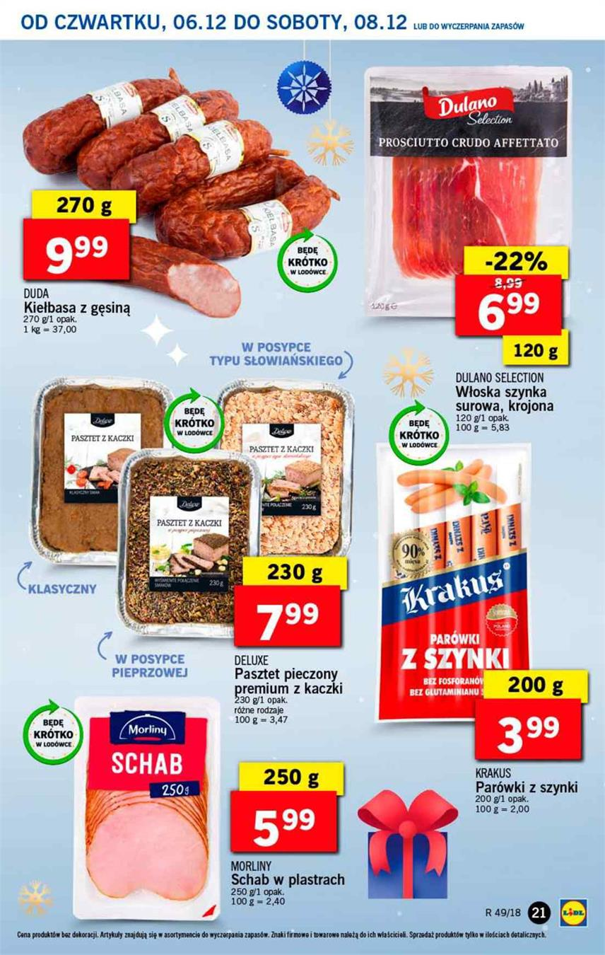 Gazetka Lidl Polska Sp. z o.o. nr 21 od 2018-12-06 do 2018-12-08