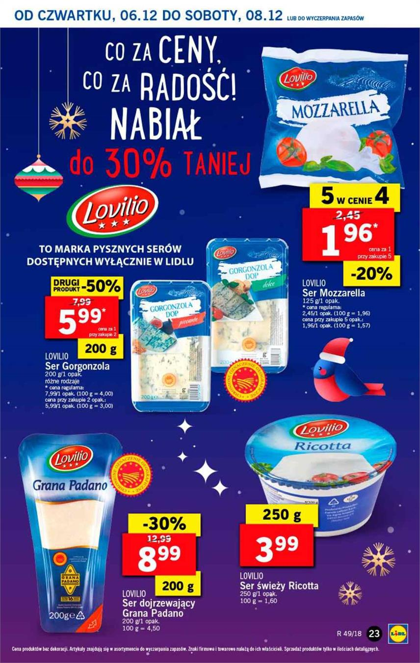Gazetka Lidl Polska Sp. z o.o. nr 23 od 2018-12-06 do 2018-12-08