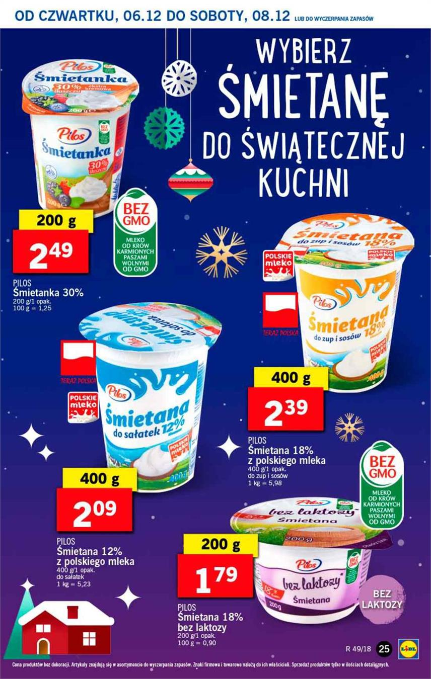 Gazetka Lidl Polska Sp. z o.o. nr 25 od 2018-12-06 do 2018-12-08