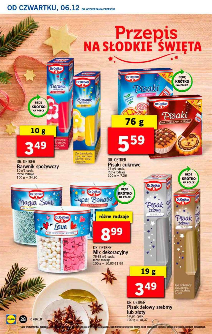 Gazetka Lidl Polska Sp. z o.o. nr 28 od 2018-12-06 do 2018-12-08