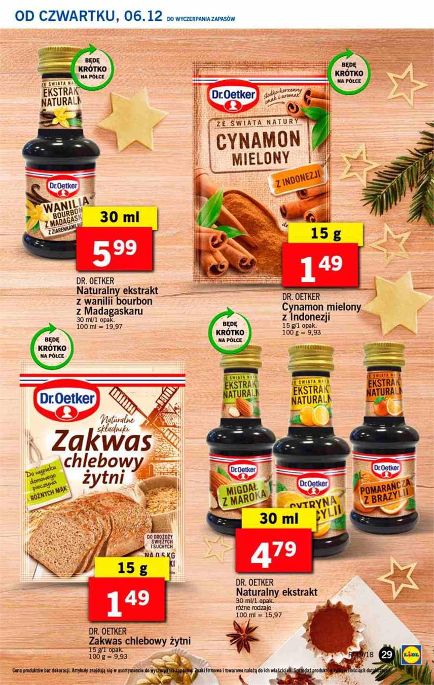 Gazetka Lidl Polska Sp. z o.o. nr 29 od 2018-12-06 do 2018-12-08