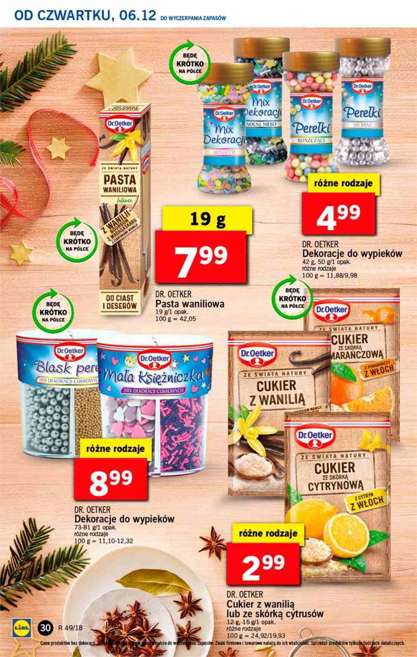 Gazetka Lidl Polska Sp. z o.o. nr 30 od 2018-12-06 do 2018-12-08