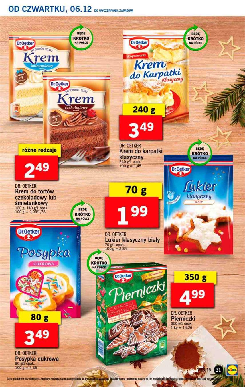 Gazetka Lidl Polska Sp. z o.o. nr 31 od 2018-12-06 do 2018-12-08